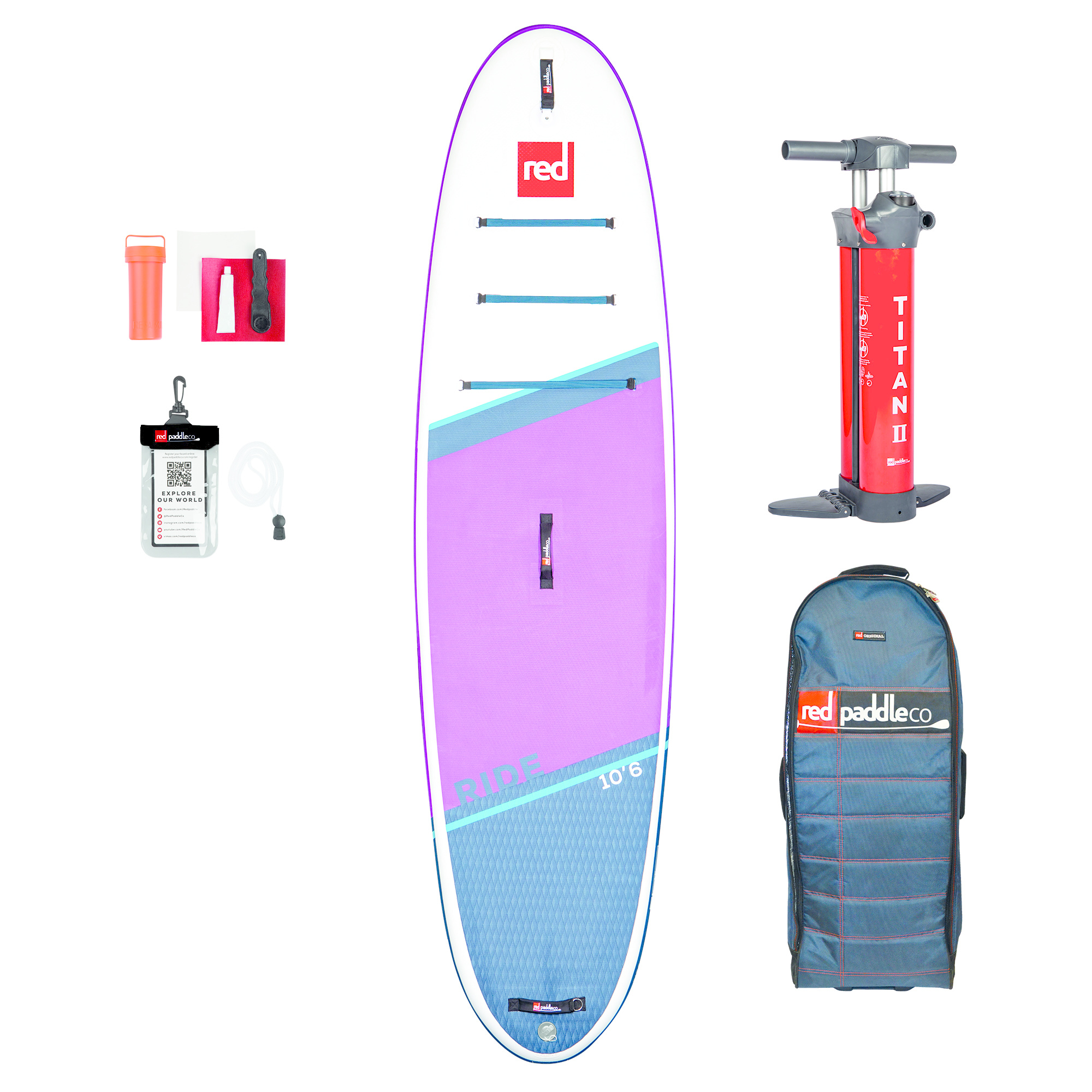 """Red Paddle Co RED Paddle Co - 10'6"""" Ride MSL Purple Edition"""