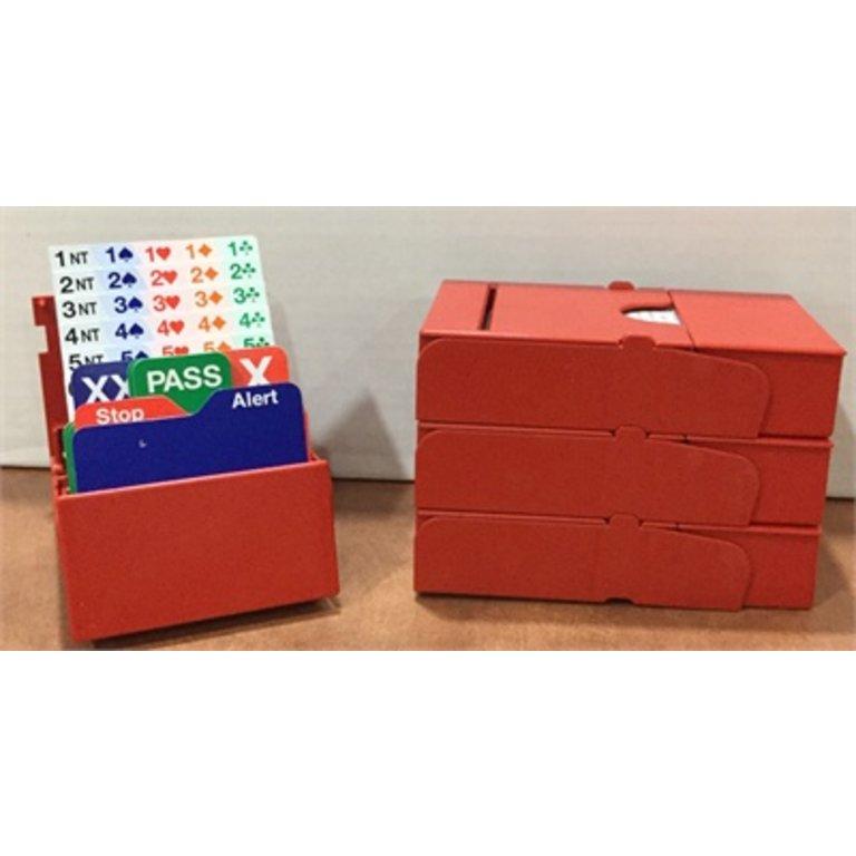 Bridge Accessories Bridge Bidding Boxes - Bid Buddy by Jannersten - Red set  of four