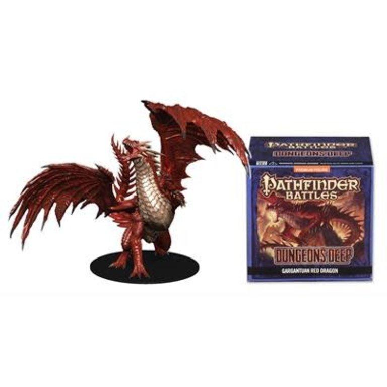 Wizkids/NECA LLC Pathfinder Battles Miniatures Dungeons Deep Gargantuan Red  Dragon Miniature