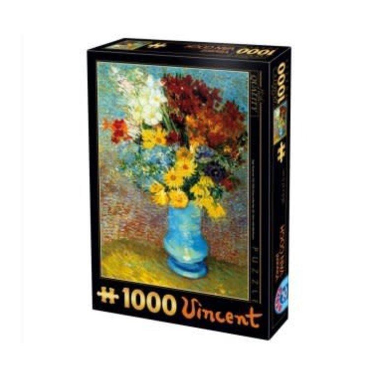 225 & Cobble Hill Puzzles 1000 pcs - Flowers in Blue Vase (Vincent ...