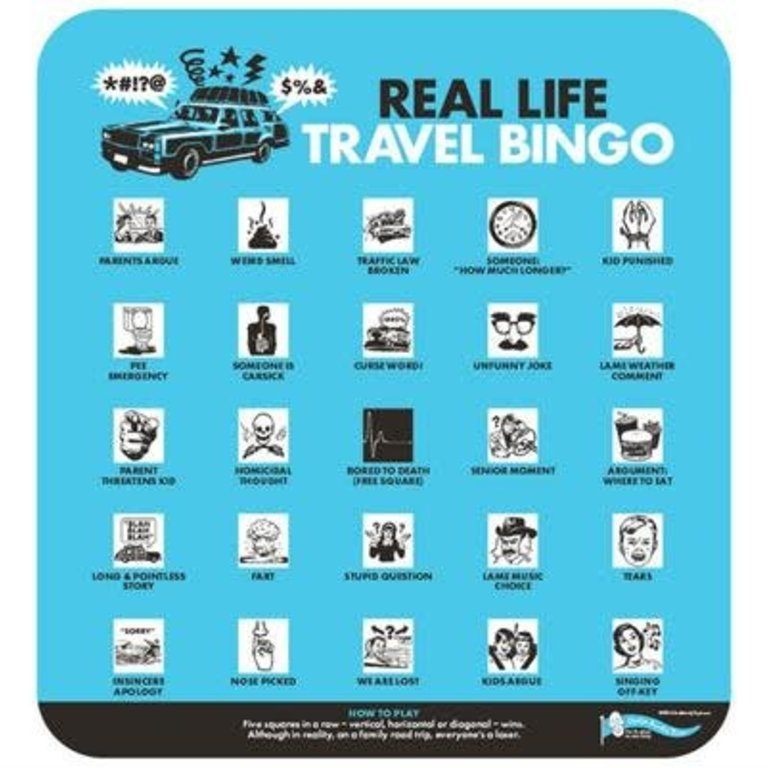 It is a graphic of Travel Bingo Printable with spy