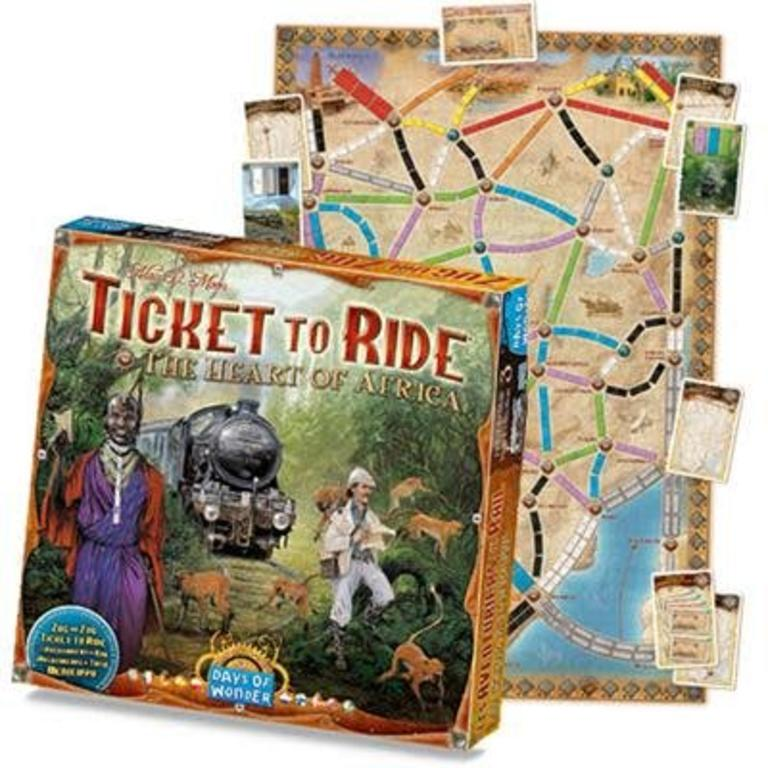Map Of Africa Games.Days Of Wonder Ticket To Ride The Heart Of Africa Map Collection 3