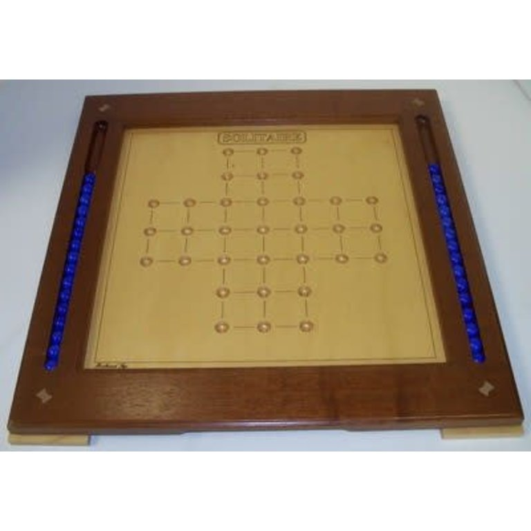 Classic Game Collection Wooden Solitaire Game Board