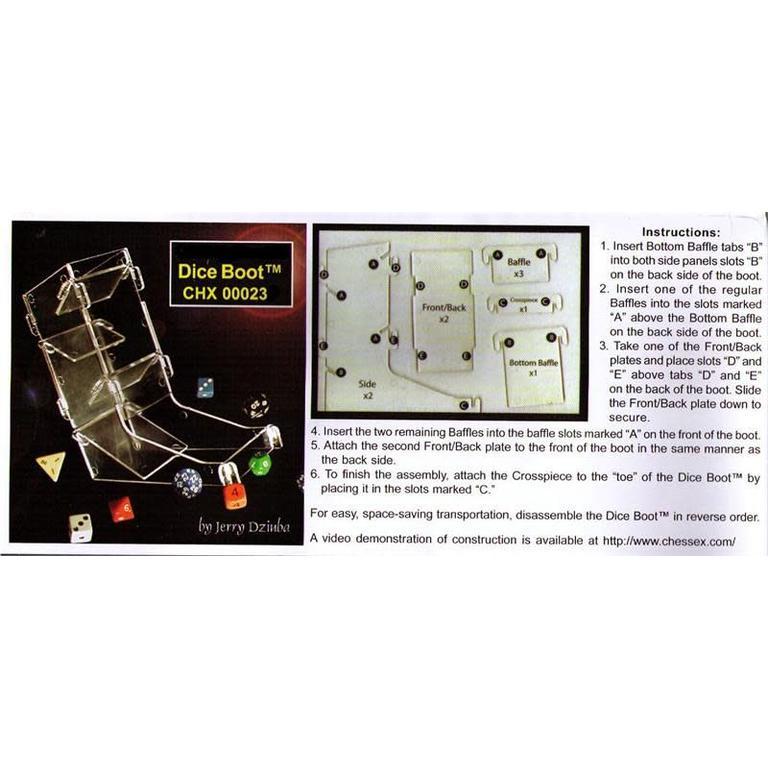 Chessex Dice Boot The Portable Dice Tower - Boardgames.ca 294f2fa4b0b8
