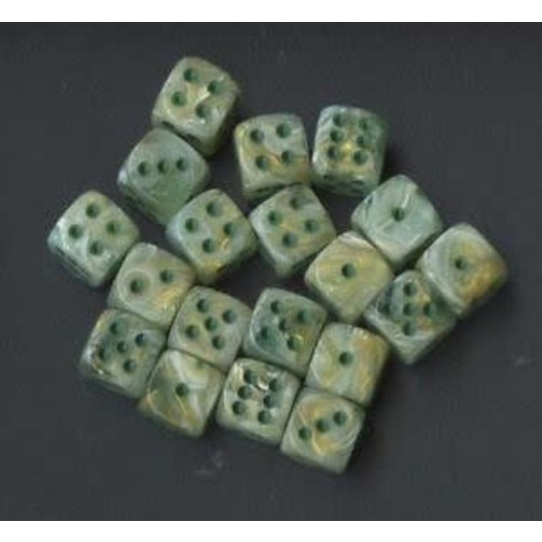 Chessex 36d6 12mm Pipped D6 Dice Block Marble Green Dark Green Boardgames Ca