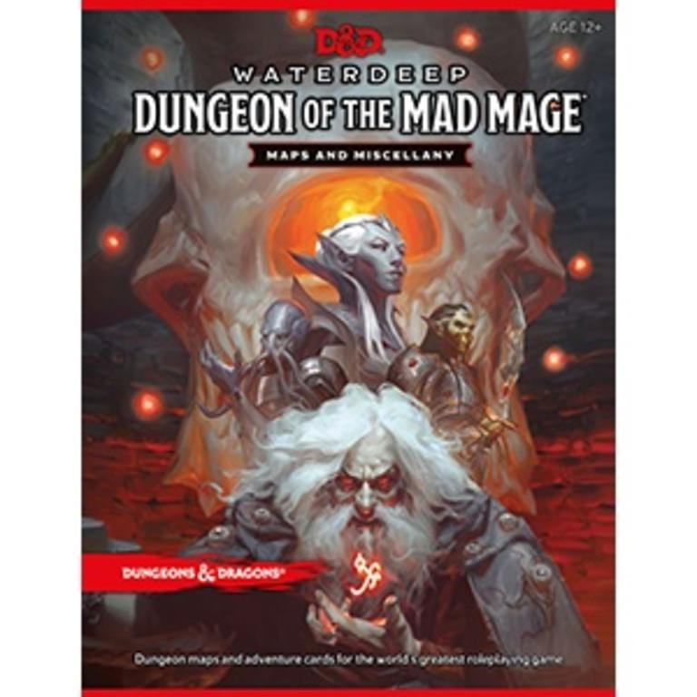 Wizards of the Coast Dungeons & Dragons 5e Waterdeep Dungeon of the Mad  Mage Map and Miscellany Pack