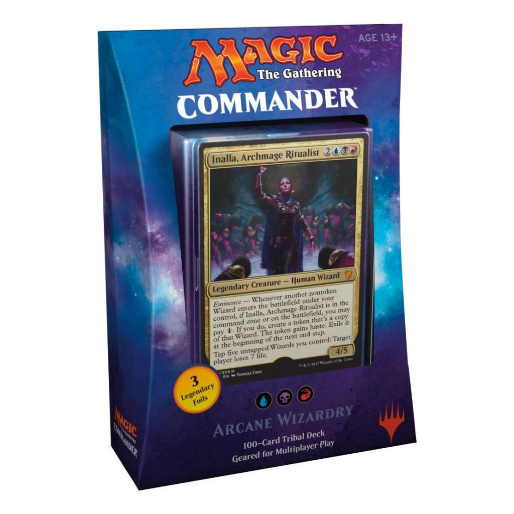 Wizards of the Coast Magic The Gathering TCG 2017 Commander Deck Arcane  Wizardry