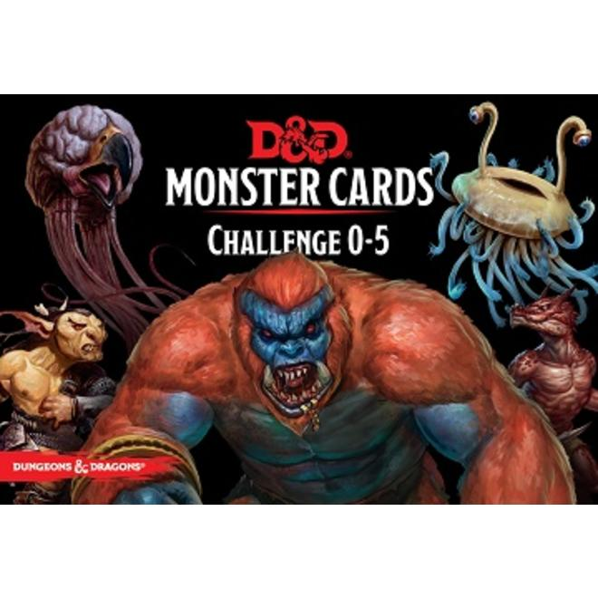 Gale Force Nine Dungeons & Dragons 5e: Monster Cards - Challenge 0 - 5