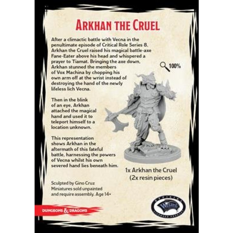 D D Collector S Series Critical Role Arkhan The Cruel Boardgames Ca He helped battle vecna, and then stole the lord of secret's hand, afterward. d d collector s series critical role