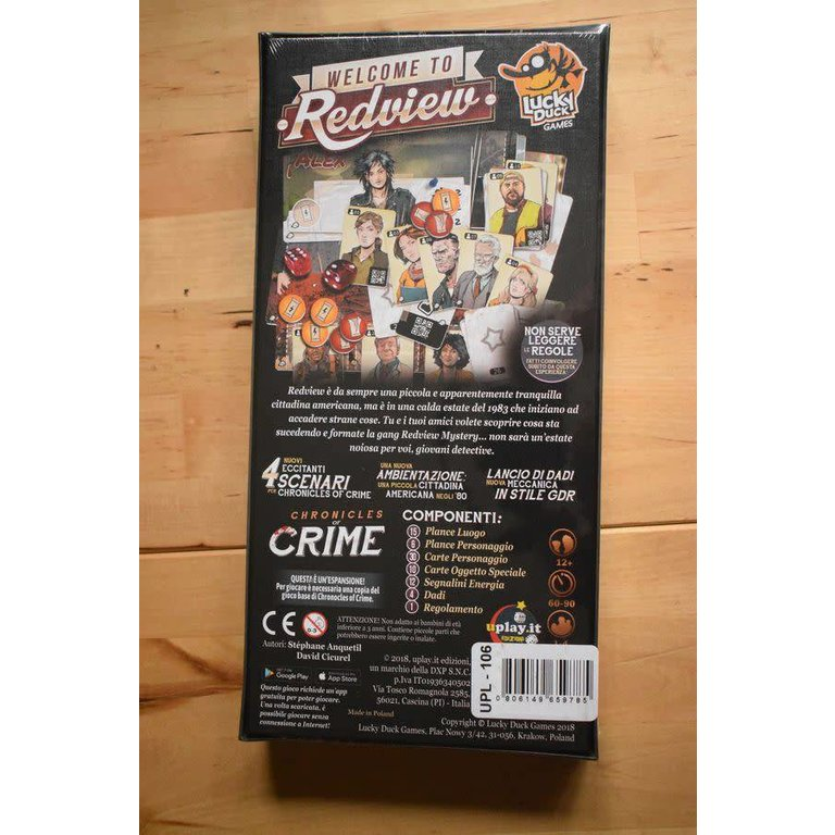 Chronicles of Crime: Welcome to Redview - Boardgames ca