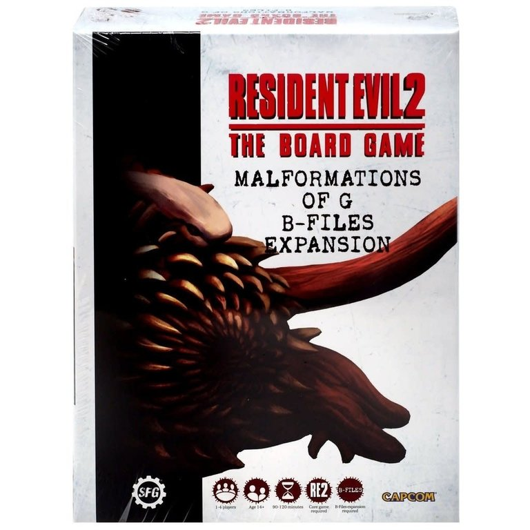 The B-Files Expansion Resident Evil 2 Board Game Steamforged Games new /& Sealed
