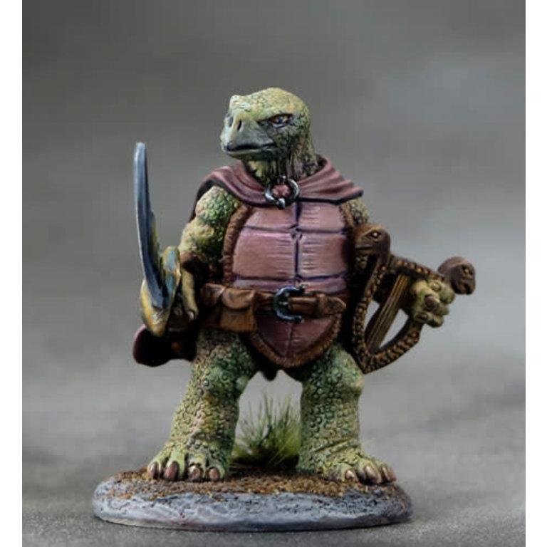 Critter Kingdoms: Tortoise Bard w/ Lyre & Sword - Boardgames ca