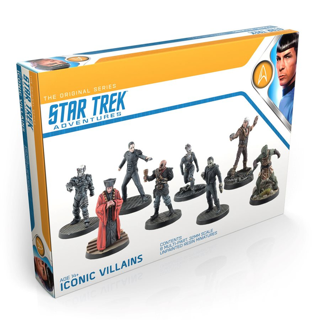 Modiphius Star Trek Adventures RPG Iconic Villains Miniatures Set