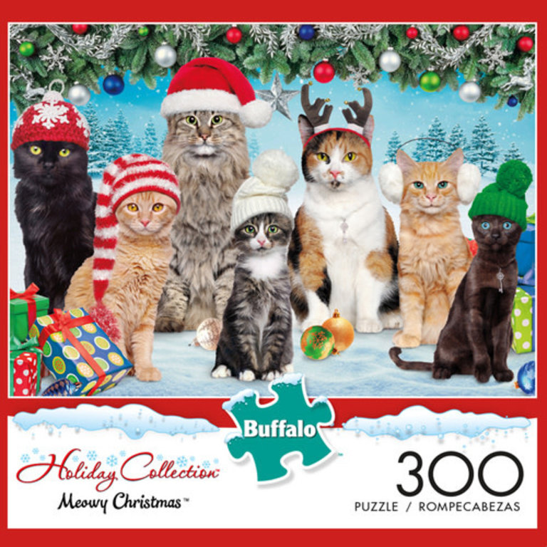300 Pcs Meowy Christmas Puzzle Boardgames Ca