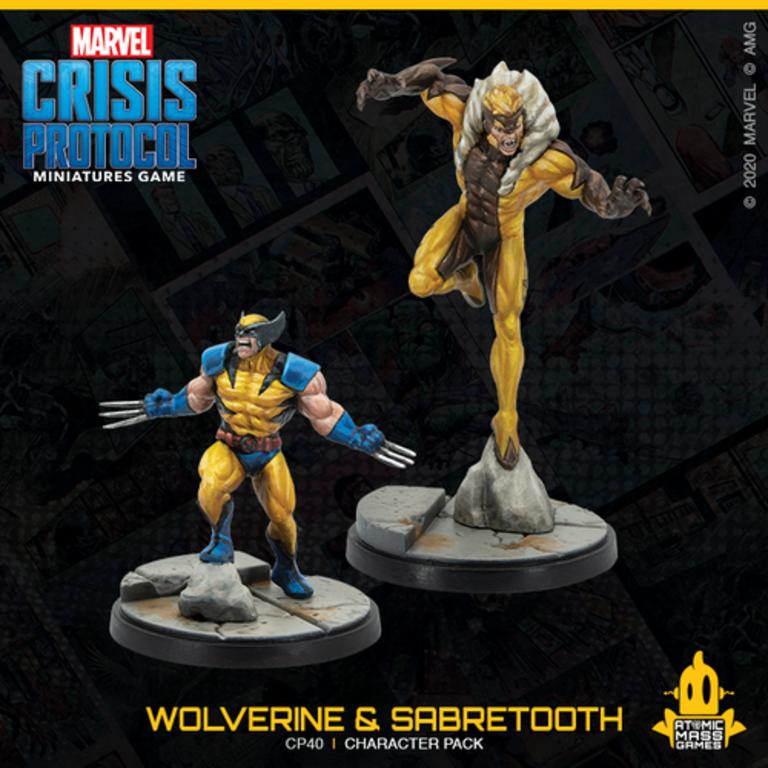 Marvel Crisis Protocol Wolverine /& Sabretooth