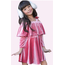 Girl's New Soft Velvet Overlay Dress w/ Shoulder Bow  GKD-18-3297