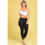 YMI Jeans YMI JUNIOR HIDE YOUR MUFFIN TOP HIGH-WAIST ANKLE JEANS P747220 Black W37