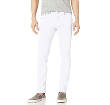 WT02 Men's Basic Color Twill Stretch Span Pants, White