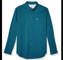 Dockers Men's Long Sleeve Perfect Shirt Teal/Black 526610473