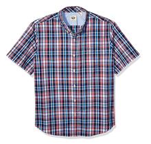 Dockers Men's Short Sleeve Button Down Comfort Flex Shirt Bowens Maritime Blue Plaid 547080422