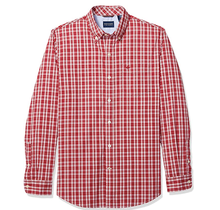 Dockers Men's Long Sleeve Button Up Perfect Shirt Damico Rio Red 526610437