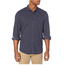 Dockers Dockers Men's Ultimate Button Up Smart 360 Flex Shirt | Deep Blue Night Pattern