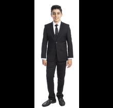 PERRY ELLIS BOY 5pc Suit Slim Fit PB363-01 BLACK (Little Boys)