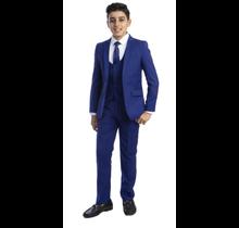 PERRY ELLIS BOY 5pc Suit Slim Fit PB363-12 ROYAL BLUE  (Big Boys)