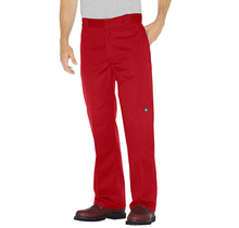 Dickies Men's Double Knee Loose Fit Work Pant English Red 85283ER