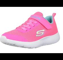 Skechers Girls' DYNA-LITE Sneaker, Neon Pink/Blue 83070L