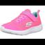 SKECHERS Skechers Girls' DYNA-LITE Sneaker, Neon Pink/Blue 83070L