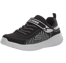 Skechers Kids Spectropulse Elite Flex Black/Silver 97894L