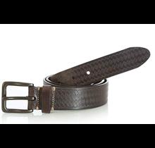 Wrangler Men's Leather Basket Weave Chocolate Belt RWB5932