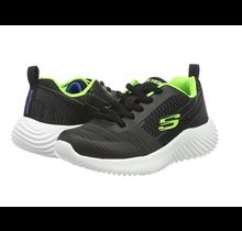 Skechers Kid's Bounder Black/Blue/Lime 98303L