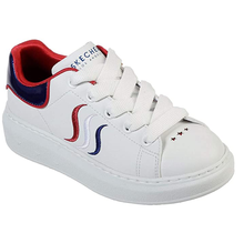 Skechers Girls' High Street-Lil Miss Esss Sneaker, White/Red/Navy 84884L