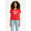 Levi Strauss & Co. Levi's Women's Graphic Ringer Surf Tee Varsity Logo, Tomato Red 77368-0019