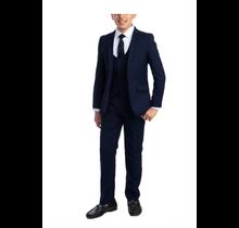PERRY ELLIS BOY 5pc Suit Slim Fit PB363-011 Navy Blue (Little Boys)