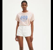 Levis Women's Graphic Varsity Tee World Crest Peach Blush