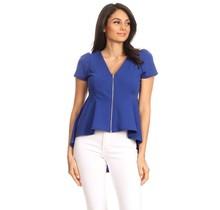 Solar Women's Blouse Top ST1607-Blue