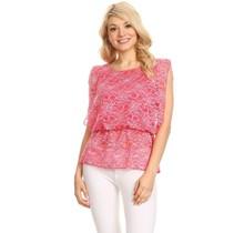 Solar Women's Blouse Top ST1127, Pink