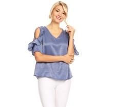 Solar Women's Blouse Top ST1274, Blue
