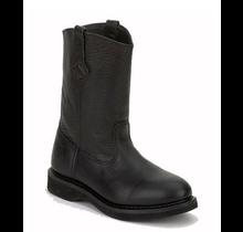 Rhino Boots Leather Work Roper Style 98M33 - Black