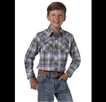 Wrangler Boy's Retro Plaid Long-Sleeve shirt BVR491A