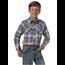 Wrangler Wrangler Boy's Retro Plaid Long-Sleeve shirt BVR491A