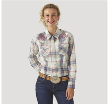 Wrangler Women's LS Snap Plaid Shirt LW6510M
