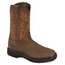 Rhino Premium Western Work Square Toe  9RT05 - Brown Bark