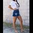 YMI Jeans YMI Junior's Hybrid Dream Denim Long Shorts With Frayed Hem