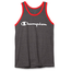 CHAMPION Champion Men's Classic Graphic Tank, Granite Heather/Red Flame