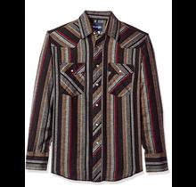 Wrangler Men's Western Flannel Shirt Lightweight Stripe 75098AS