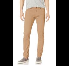 WT02 Men's Basic Color Twill Stretch Span Pants, Light Khaki